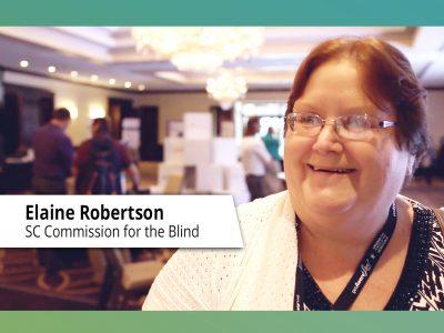 Elaine Robertson getAwareLive! Conference Video Blog Image.