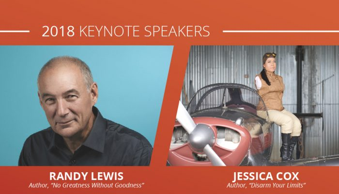 getAwareLive! Conference Keynote Speakers Randy Lewis and Jessica Cox.